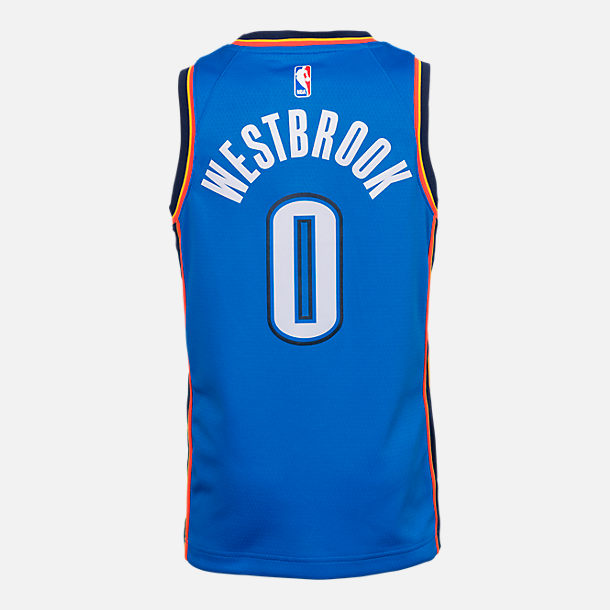 Kids  Nike Oklahoma City Thunder NBA Russell Westbrook Icon Edition  Swingman Connected Jersey f151f4fc9