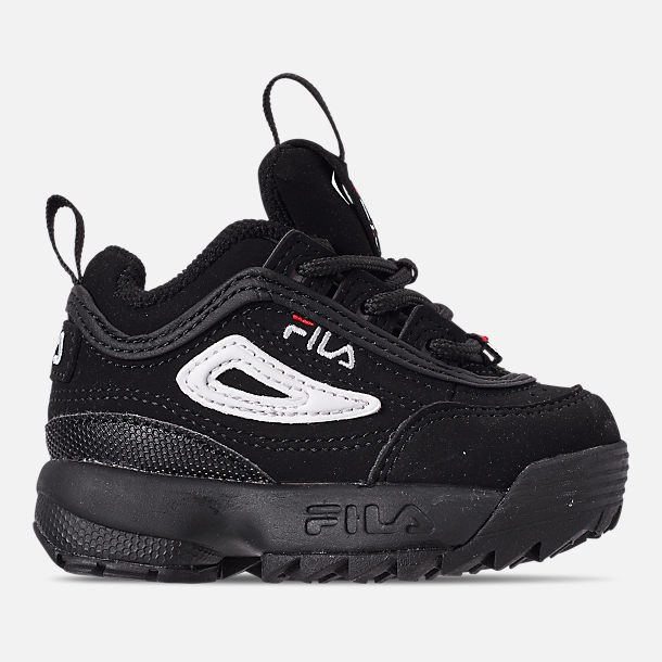 Right view of Kids  Toddler Fila Disruptor II Casual Shoes in Black White  c86880a1bc9