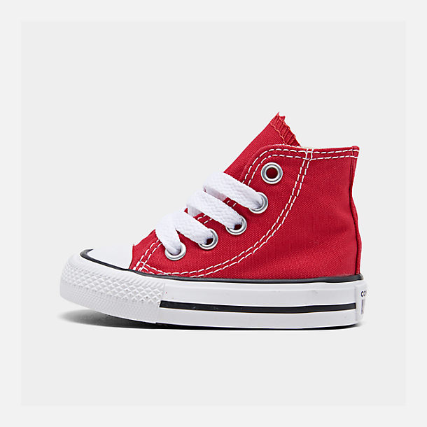 Right view of Kids' Toddler Converse Chuck Taylor Hi Casual Shoes in Red