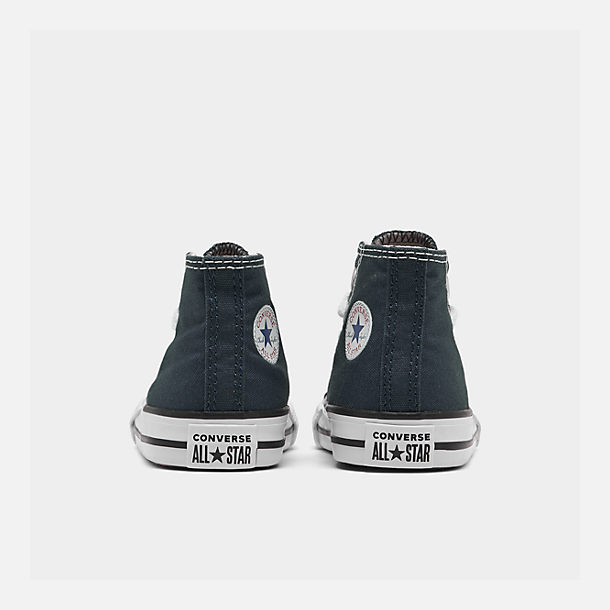 Left view of Kids' Toddler Converse Chuck Taylor Hi Casual Shoes in Navy