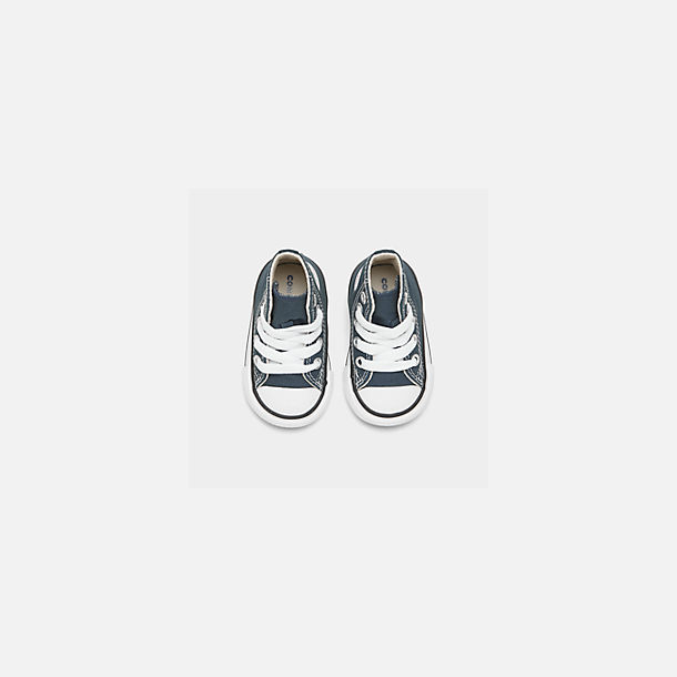 Back view of Kids' Toddler Converse Chuck Taylor Hi Casual Shoes in Navy