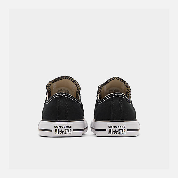 Left view of Kids' Toddler Converse Chuck Taylor Ox Casual Shoes in Black