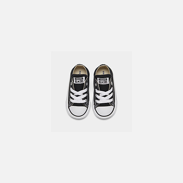 Back view of Kids' Toddler Converse Chuck Taylor Low Top Casual Shoes in Black
