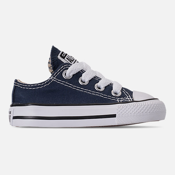1ee9c2be7cc1 Right view of Boys  Toddler Converse Chuck Taylor Ox Casual Shoes in Blue  Denim