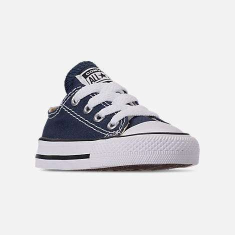 4524d4bae91aa0 Three Quarter view of Boys  Toddler Converse Chuck Taylor Ox Casual Shoes  in Blue Denim