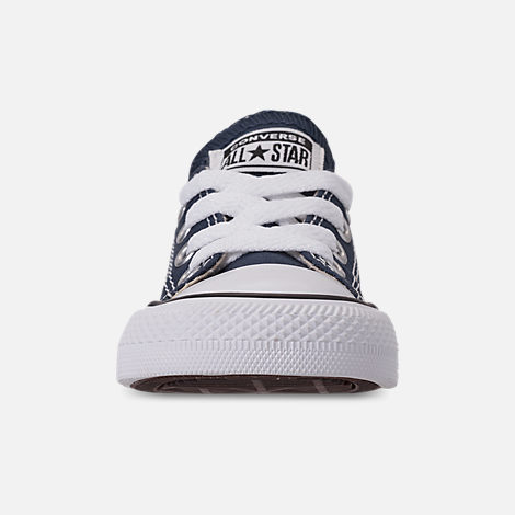 efe23e40f7ca0f Front view of Boys  Toddler Converse Chuck Taylor Ox Casual Shoes in Blue  Denim