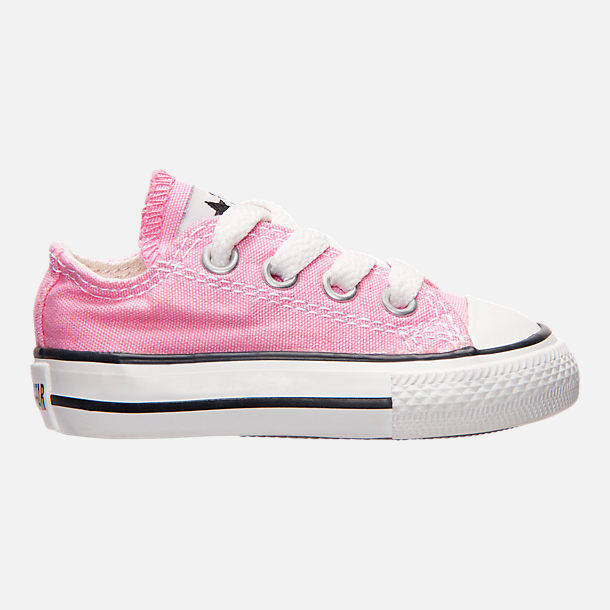 Right view of Girls' Toddler Converse Chuck Taylor Ox Casual Shoes in Pink
