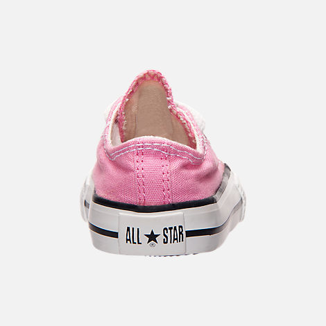 Back view of Girls' Toddler Converse Chuck Taylor Ox Casual Shoes in Pink