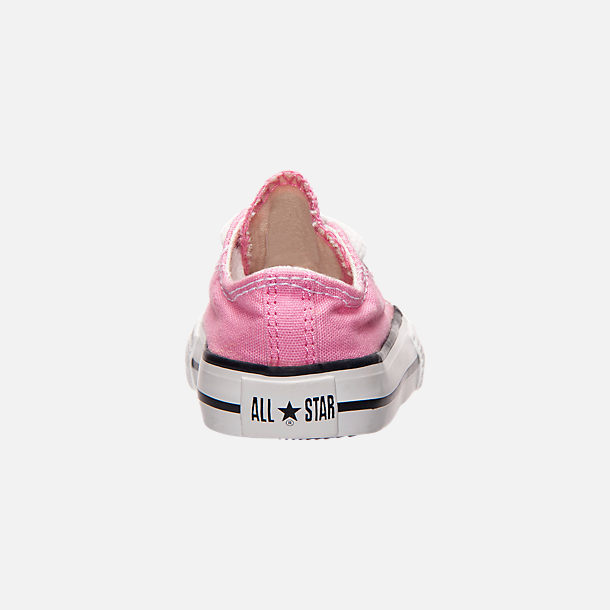 Back view of Girls' Toddler Converse Chuck Taylor Low Top Casual Shoes in Pink
