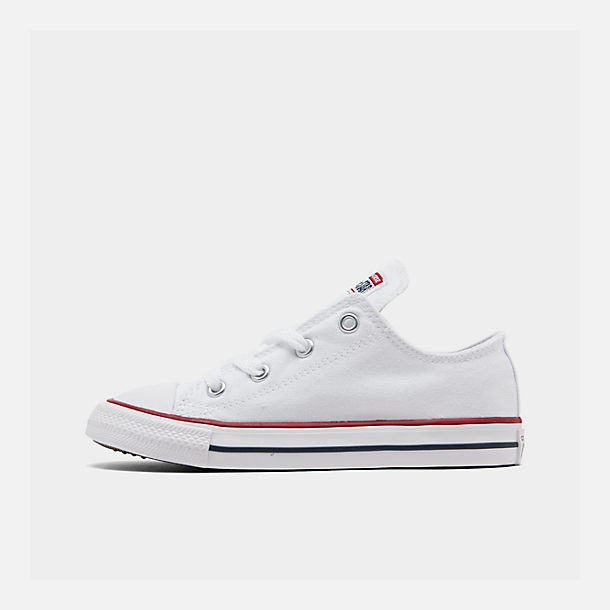Right view of Kids' Toddler Converse Chuck Taylor Low Top Casual Shoes in White