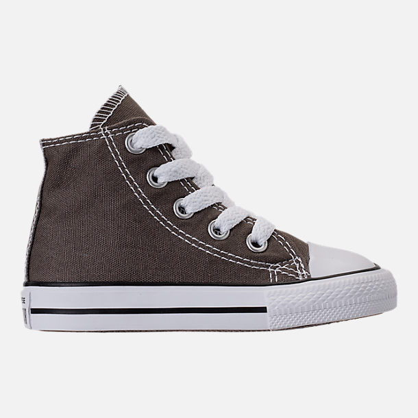 Right view of Kids' Toddler Converse Chuck Taylor Hi Casual Shoes in Charcoal