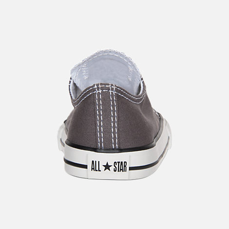 Back view of Boys' Toddler Converse Chuck Taylor Ox Casual Shoes in Grey/White