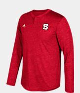 Men's adidas North Carolina State Wolfpack College Long-Sleeve Henley Shirt