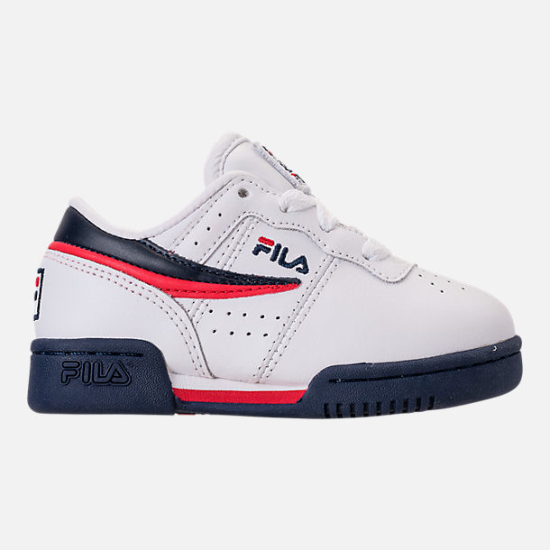 Right view of Boys' Toddler Fila Original Fitness Casual Shoes in White/Navy/Red