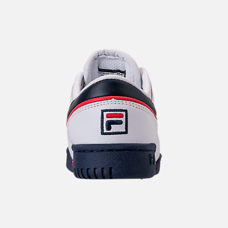 Back view of Boys' Toddler Fila Original Fitness Casual Shoes in White/Navy/Red