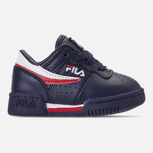 Right view of Boys' Toddler Fila Original Fitness Casual Shoes in Navy/White/Red