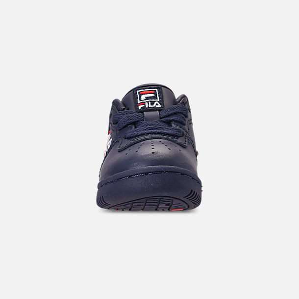 Front view of Boys' Toddler Fila Original Fitness Casual Shoes in Navy/White/Red