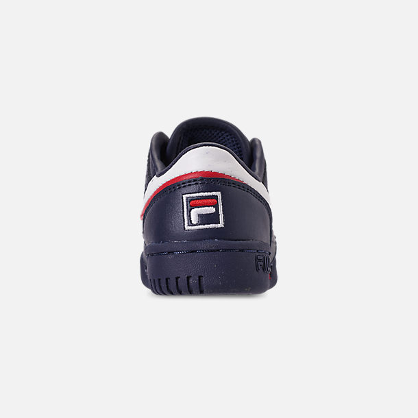 Back view of Boys' Toddler Fila Original Fitness Casual Shoes in Navy/White/Red