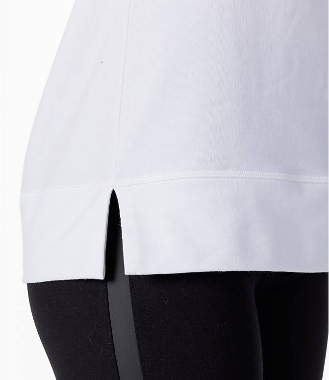 Detail 1 view of Women's Activ8 Varsity Crew Sweatshirt in White/Black
