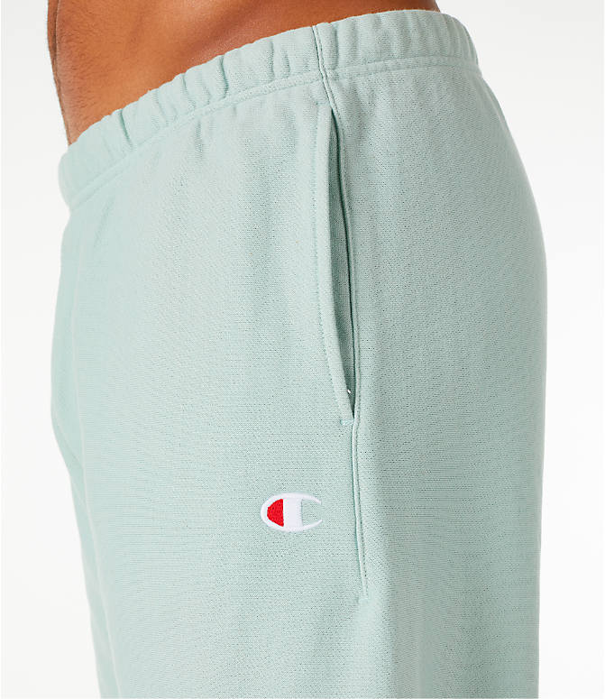 Detail 1 view of Men's Champion Reverse Weave French Terry Shorts in Mint