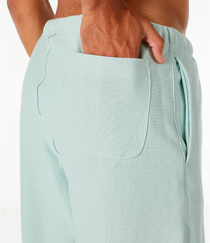 Detail 2 view of Men's Champion Reverse Weave French Terry Shorts in Mint