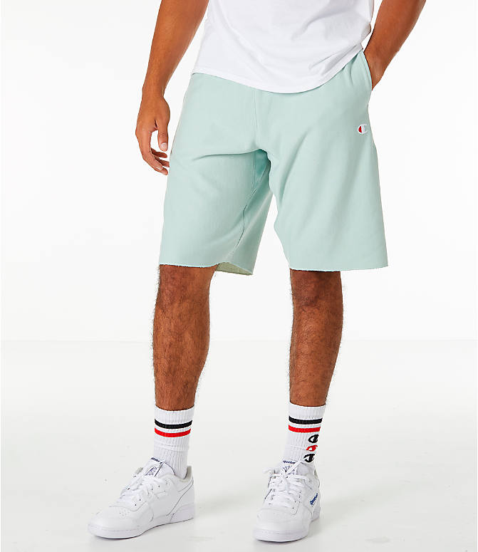 Front view of Men's Champion Reverse Weave French Terry Shorts in Mint