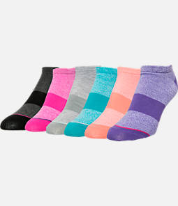 Women's Finish Line Low-Cut 6-Pack Socks  Product Image