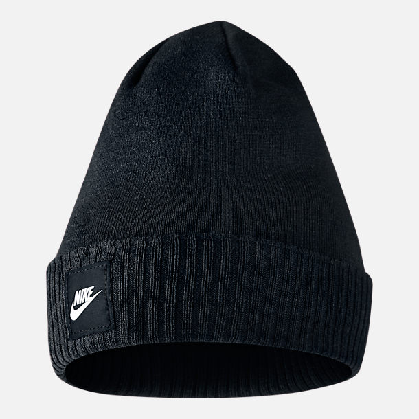 Front view of Nike Futura Beanie in Black