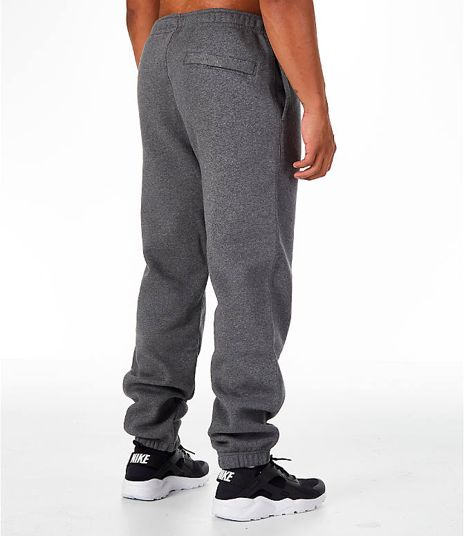 Back Right view of Men's Nike Club Fleece Jogger Pants in Grey