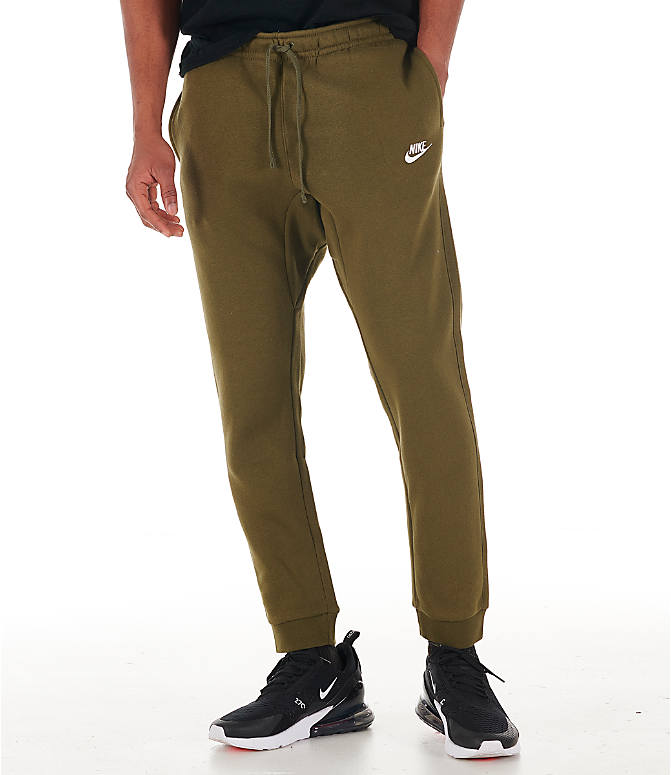 60fc3cb4442ee4 Front view of Men's Nike Sportswear Club Cuffed Jogger Pants in Olive