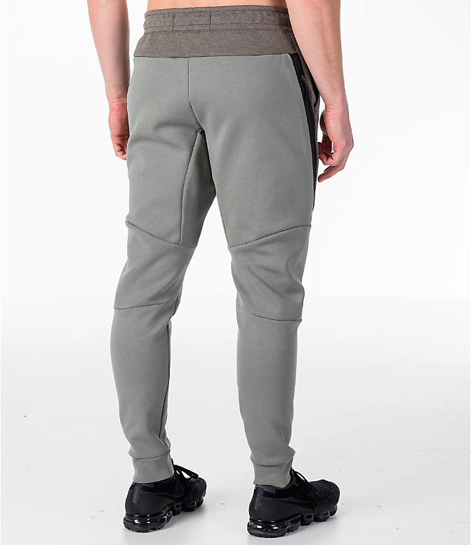 Back Right view of Men's Nike Tech Fleece Jogger Pants in Stucco/Black