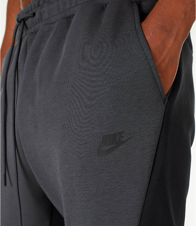 Detail 1 view of Men's Nike Tech Fleece Jogger Pants in Black/Anthracite