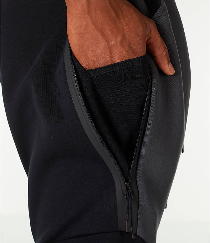 Detail 2 view of Men's Nike Tech Fleece Jogger Pants in Black/Anthracite
