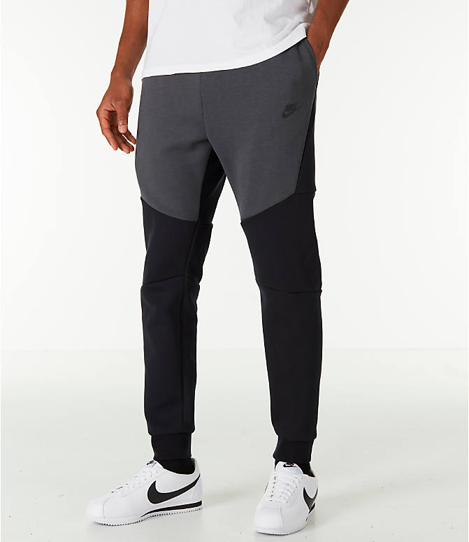 Front view of Men s Nike Tech Fleece Jogger Pants in Black Anthracite 366622ece0