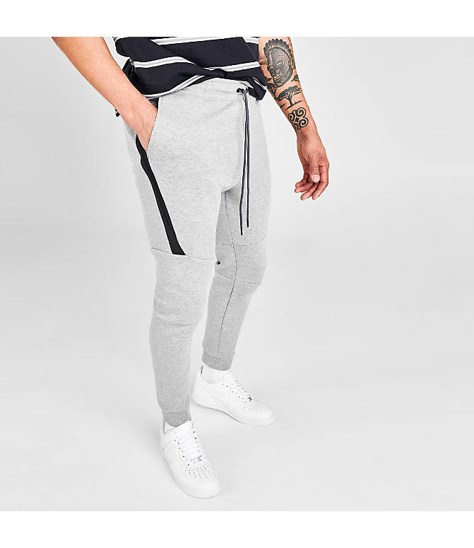 2d910ecfedc9 Back Left view of Men s Nike Tech Fleece Jogger Pants in Dark Grey