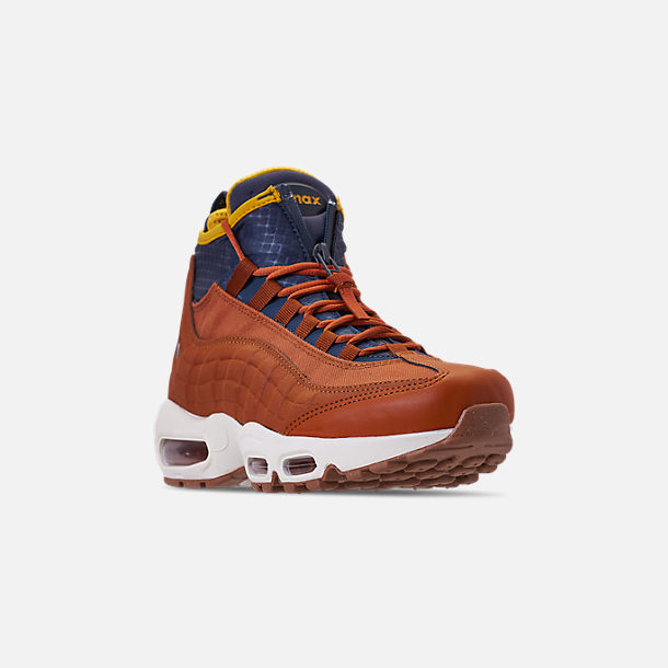 buy online 5a829 c502c Three Quarter view of Men s Nike Air Max 95 Sneakerboots in Dark  Russet Thunder Blue