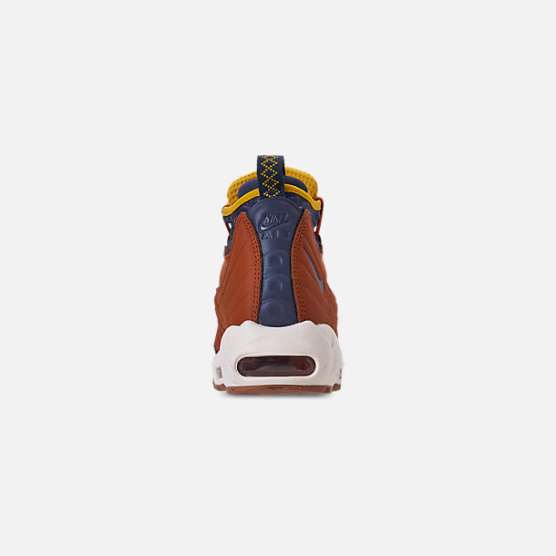 buy online 64210 2b4d7 Back view of Men s Nike Air Max 95 Sneakerboots in Dark Russet Thunder Blue