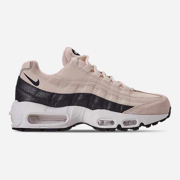 Right view of Women's Nike Air Max 95 Premium Casual Shoes in Light Cream/Oil Grey/Summit White