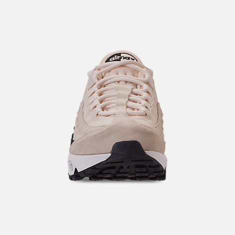 Front view of Women's Nike Air Max 95 Premium Casual Shoes in Light Cream/Oil Grey/Summit White
