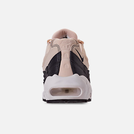 Back view of Women's Nike Air Max 95 Premium Casual Shoes in Light Cream/Oil Grey/Summit White