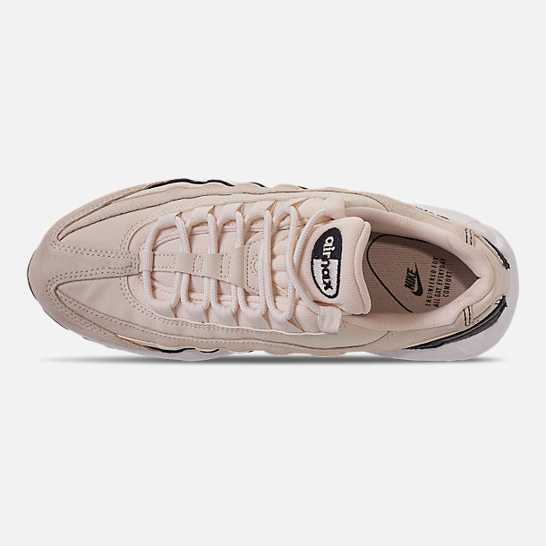 Top view of Women's Nike Air Max 95 Premium Casual Shoes in Light Cream/Oil Grey/Summit White