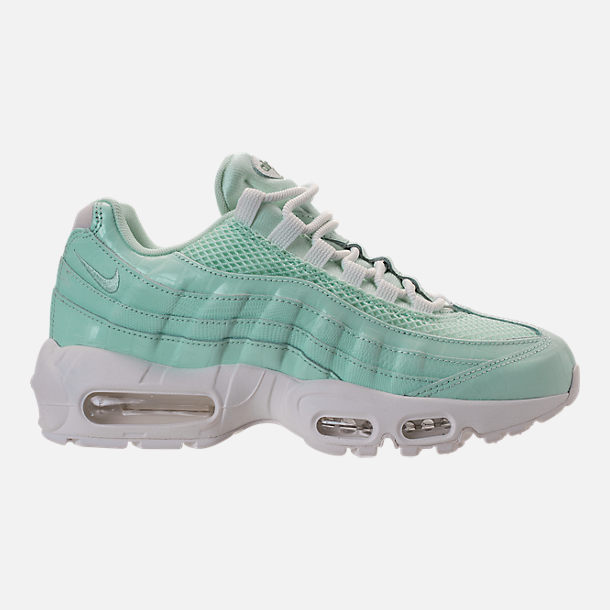 Right view of Women's Nike Air Max 95 Premium Casual Shoes in Igloo/Igloo/Summit White/Clay Green
