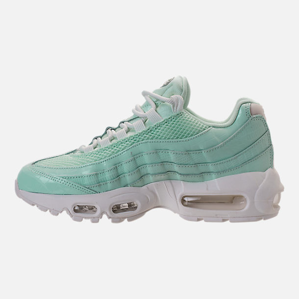Left view of Women's Nike Air Max 95 Premium Casual Shoes in Igloo/Igloo/Summit White/Clay Green