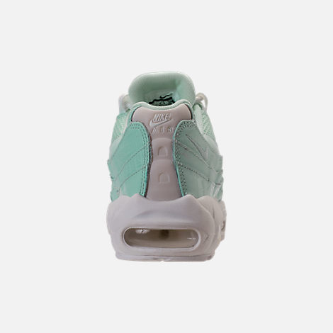 Back view of Women's Nike Air Max 95 Premium Casual Shoes in Igloo/Igloo/Summit White/Clay Green