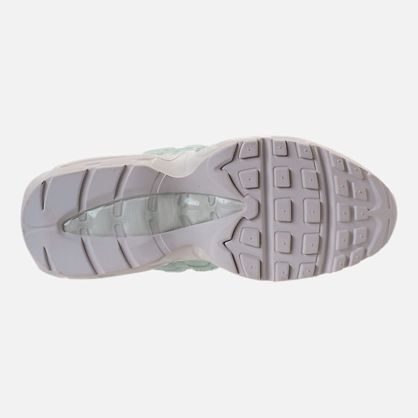 Bottom view of Women's Nike Air Max 95 Premium Casual Shoes in Igloo/Igloo/Summit White/Clay Green