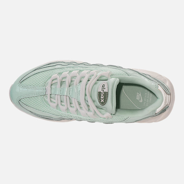 Top view of Women's Nike Air Max 95 Premium Casual Shoes in Igloo/Igloo/Summit White/Clay Green