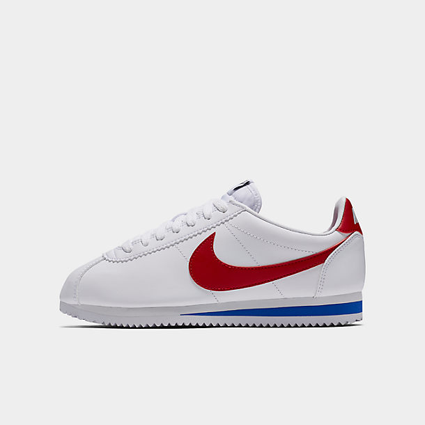Nike Classic Cortez Leather shoes white blue