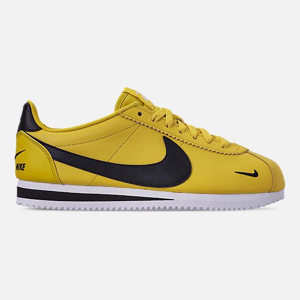 718bfc635b1090 Right view of Men s Nike Classic Cortez Premium Casual Shoes in Bright  Citron Black