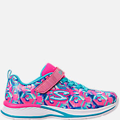 Girls' Little Kids' Skechers Jumpin Jam Hook-and-Loop Closure Running Shoes
