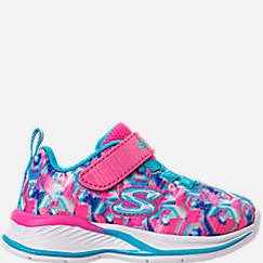 Girls' Toddler Skechers Jumpin Jam Hook-and-Loop Closure Running Shoes